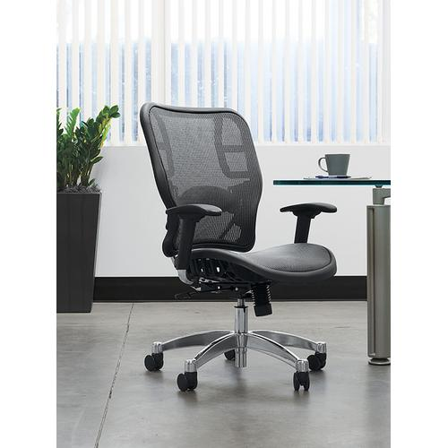 Grey Vertical Mesh Seat and Back Chair