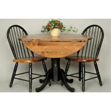 "#286 42"" Drop Leaf Pedestal Table 42""rx30.5""h"