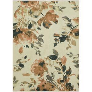 Mohawk - Vintage Floral, Cream- Rectangle