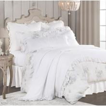 3 PC Rosaline Linen Duvet Set, (queen/king) - King