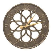 """Medallion 18"""" Indoor Outdoor Wall Thermometer - French Bronze"""