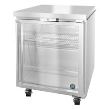 UR27A-GLP01, Refrigerator, Single Section Undercounter, Full Glass Door