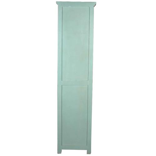 Sunset Trading - Tall Narrow Cabinet - Teal and Natural Raftwood
