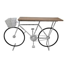 Bicycle Console Table, White
