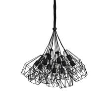 See Details - 2905312 - Hanging lamp 11L 20x33 cm KOBAKA matt black