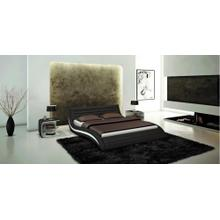 Modrest Apollo - Contemporary Black Eco-Leather Bed
