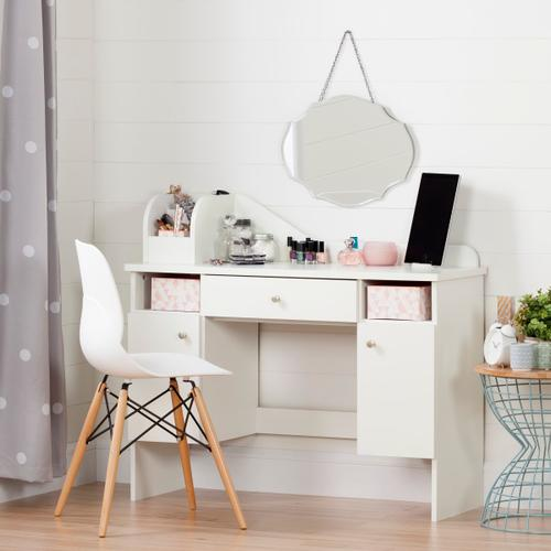 Vito - Makeup Desk with Drawer, Pure White