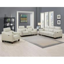 See Details - Giorno 3-Piece Leather Reclining Upholstery Set (Sofa, Loveseat and Recliner)