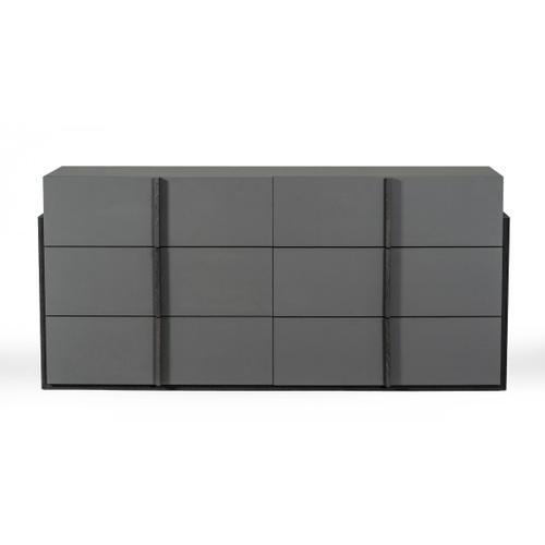 Nova Domus Lucia - Italian Modern Elm and Matte Grey Dresser