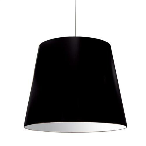 1lt Oversized Drum Pendant Large Black Shade