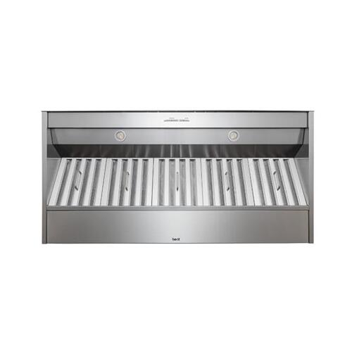 "BEST Range Hoods - 48"" Stainless Steel Built-In Range Hood for use with External Blower Options"