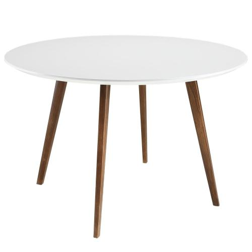 Platter Round Dining Table in White