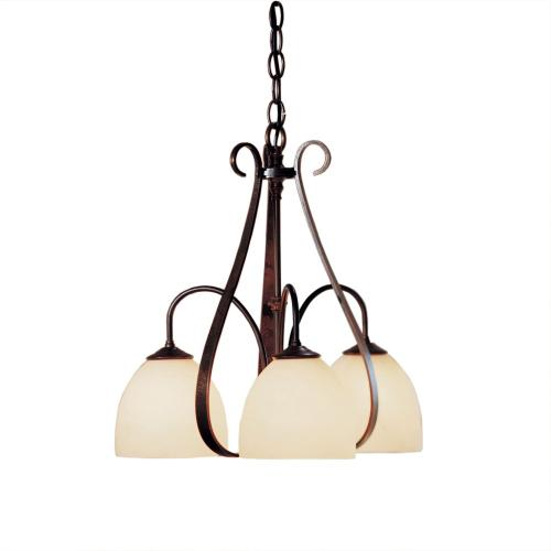 Hubbardton Forge - Sweeping Taper 3 Arm Chandelier