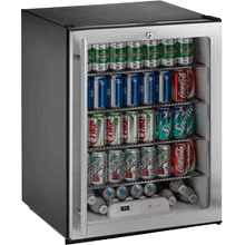 """See Details - Stainless Glass door, right-hand ADA Series /24"""" ADA Height Compliant Glass Door Refrigerator / Single Zone Convection Cooling System"""