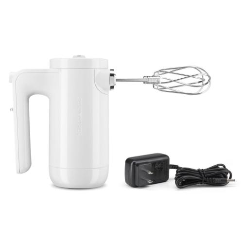 Cordless 7 Speed Hand Mixer - White
