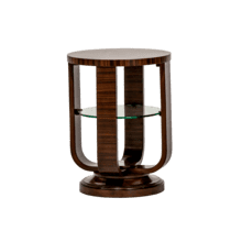 View Product - Cloche Chair Side Table Bourbon