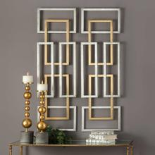 Aerin Metal Wall Panels, S/2