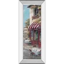 """Street Cafe"" Mirrored Framed Print Wall Art"