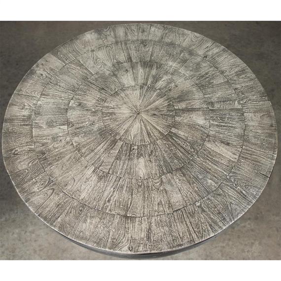 Riverside - Drum Coffee Table - Ashen Gray Finish