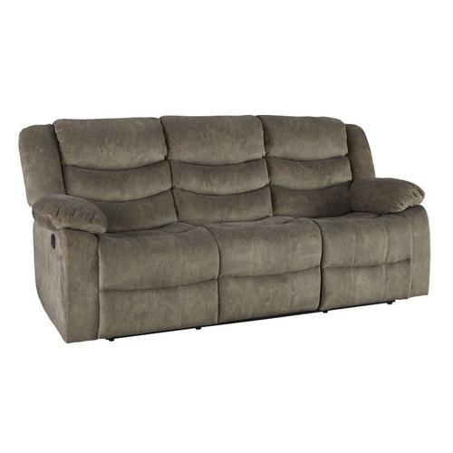 Ridgecrest Manual Motion Reclining Upholstered Sofa, Tan