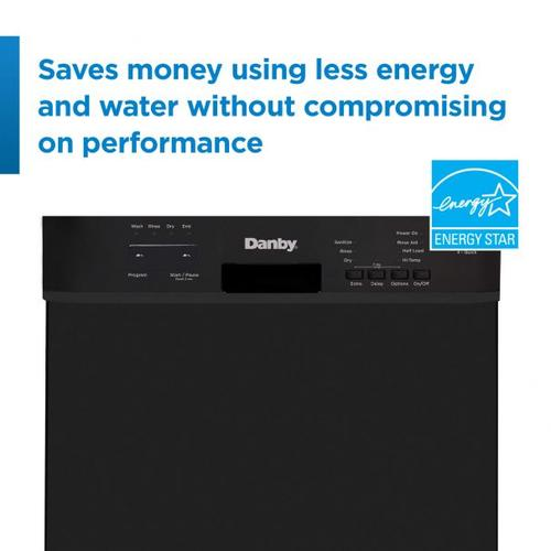 Danby - Danby 18 Built-in Dishwasher with Front Controls (Black)