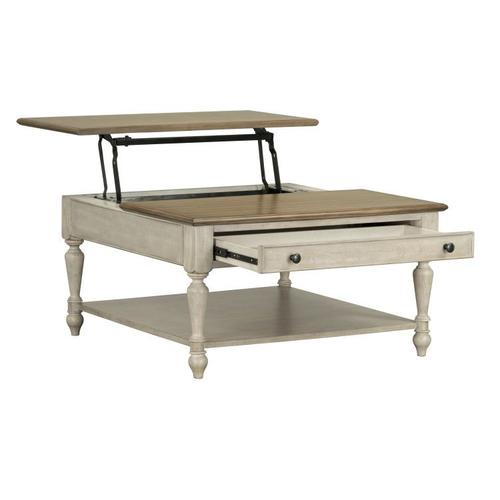 Standard Furniture - Montgomery Light Lift Top Coffee Table, Two Tone Finish