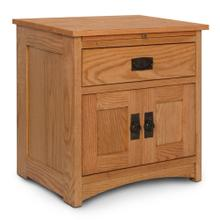 See Details - Prairie Mission Deluxe Nightstand with Doors