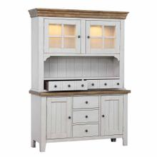View Product - Buffet and Hutch - Distressed Gray & Brown