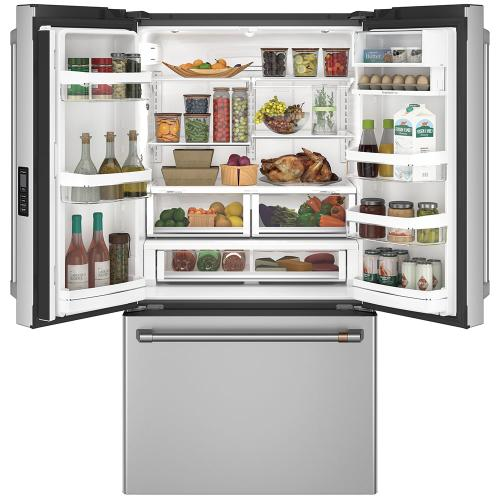 Café 23.1 Cu. Ft. Counter-Depth French-Door Refrigerator Stainless Steel