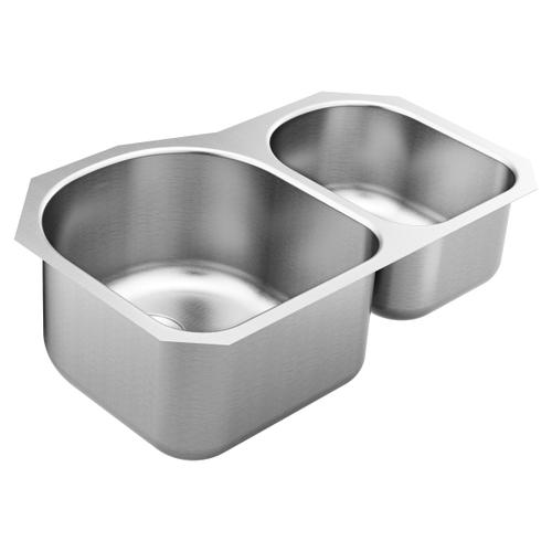 1800 Series 31.25 x 18.25 stainless steel 18 gauge double bowl sink
