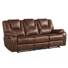Katrine Manual Motion Sofa, Brown