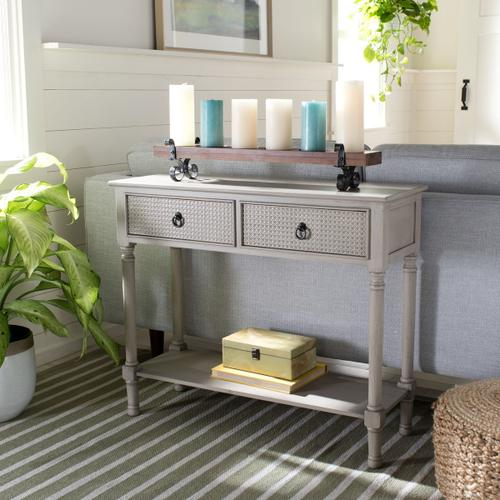 Safavieh - Haines 2 Drawer Console Table - Greige
