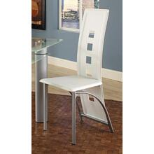 See Details - Astro White Side Chair