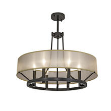 "Ghost 24"" Chandelier - PAINTED Architectural Bronze Powder Coat"