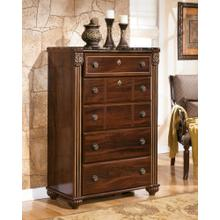 Gabriela Five Drawer Chest Dark Reddish Brown
