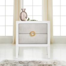Retro Shagreen Nightstand-Sea Foam Grey