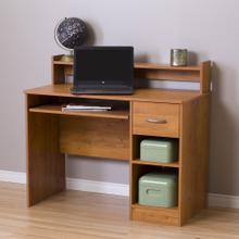 Office Desk - Modern Design - Keyboard Tray and One Drawer - Country Pine