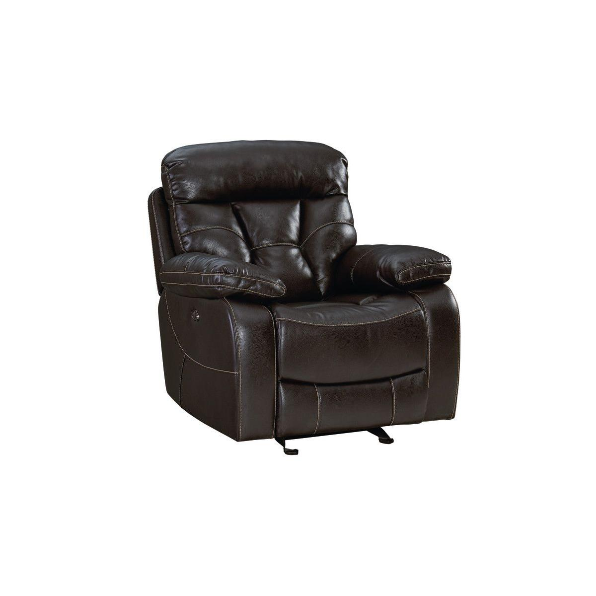 Peoria Manual Motion Glider Recliner, Brown