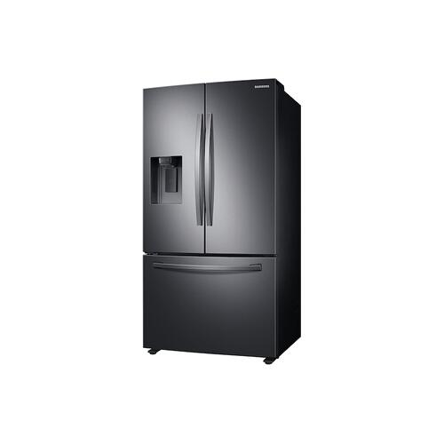 27 cu. ft. Large Capacity 3-Door French Door Refrigerator with Dual Ice Maker in Black Stainless Steel