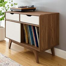 Envision Vinyl Record Display Stand in Walnut White