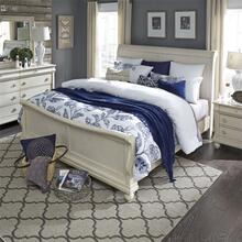 King California Sleigh Bed, Dresser & Mirror, N/S