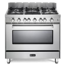 "36"" Gas Single Oven Range Stainless Steel 4"" B/G"