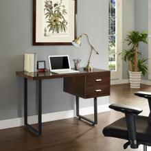 Turn Office Desk in Walnut