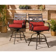 See Details - Hanover Montclair High-Dining Counter-Height Swivel Chairs, Set of 2, in Chili Red, 11200-2SWBR-CHLSL