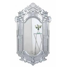 Venetian 27.6 in. Transitional Mirror in Clear