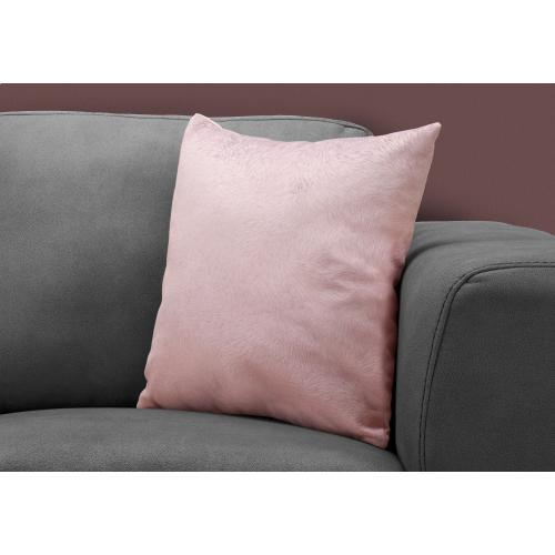 """Gallery - PILLOW - 18""""X 18"""" / LIGHT PINK FEATHERED VELVET / 1PC"""