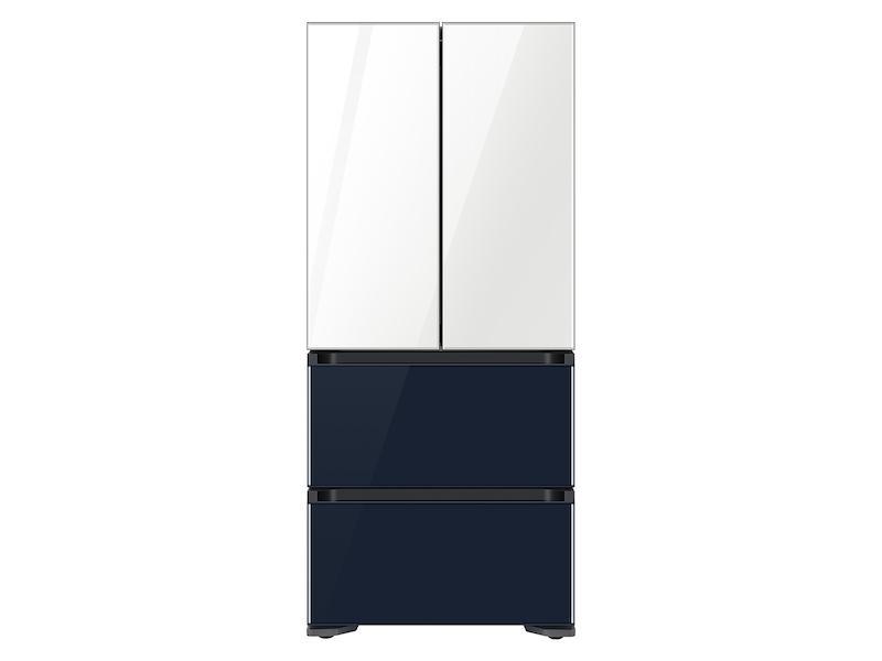 Samsung17.3 Cu. Ft. Smart Kimchi & Specialty 4-Door French Door Refrigerator In White-Navy Glass