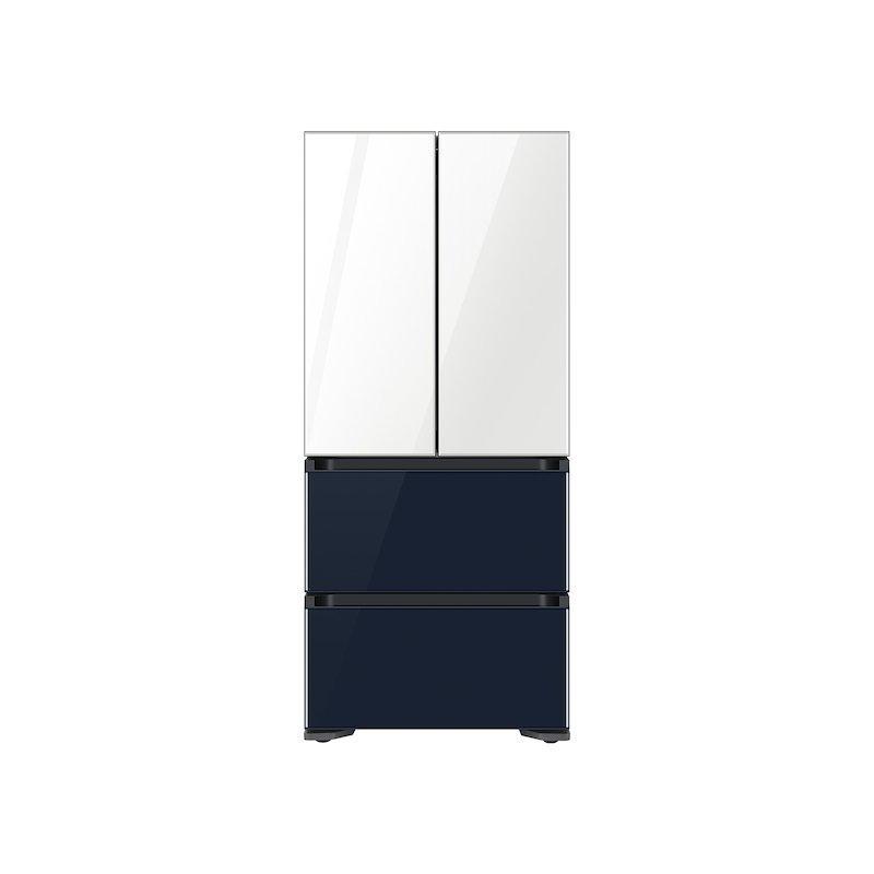 17.3 cu. ft. Smart Kimchi & Specialty 4-Door French Door Refrigerator in White-Navy Glass