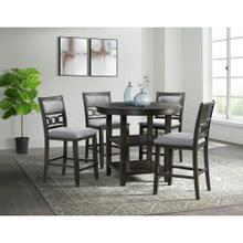 Amherst Dark Counter Set - Counter Table and 4 Barstools