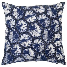 Delra Pillow - Navy/white